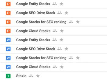 Staxio Google Stacks